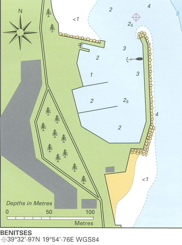 Benitses map