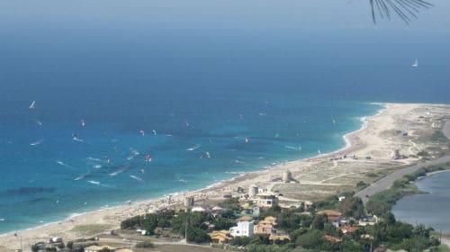 Wind- en kitesurfen op Lefkas