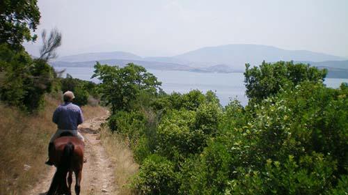 Paardrijden op Corfu