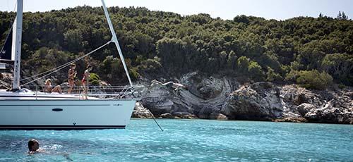 Zwemmen in de Griekse zee