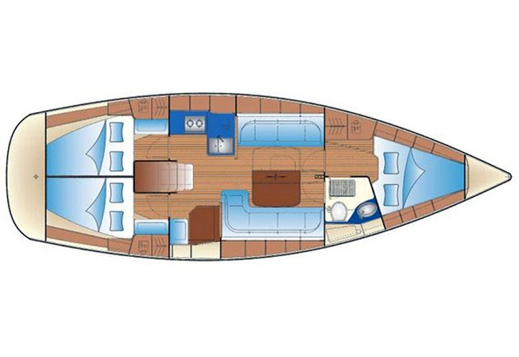 bavaria-37-cruiser plattegrond