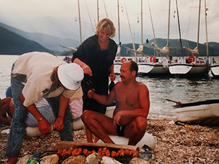 BBQ op een strandje